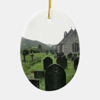Eglwys Tydecho Sant (Llanmawddwy Parish Church) Ceramic Oval Decoration