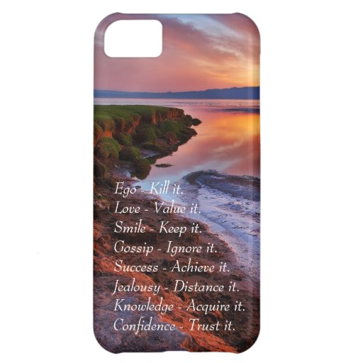 Ego Kill it Love value it Smile Keep it quote Cover For iPhone 5C