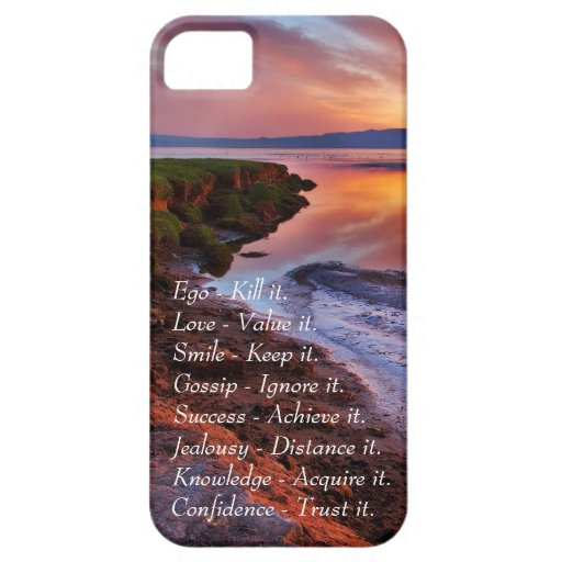 Ego Kill it Love value it Smile Keep it quote iPhone 5 Cover