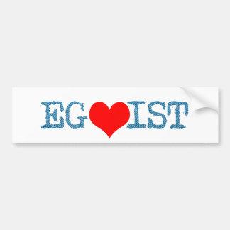 Egoist Red Heart Denim Bumper Sticker