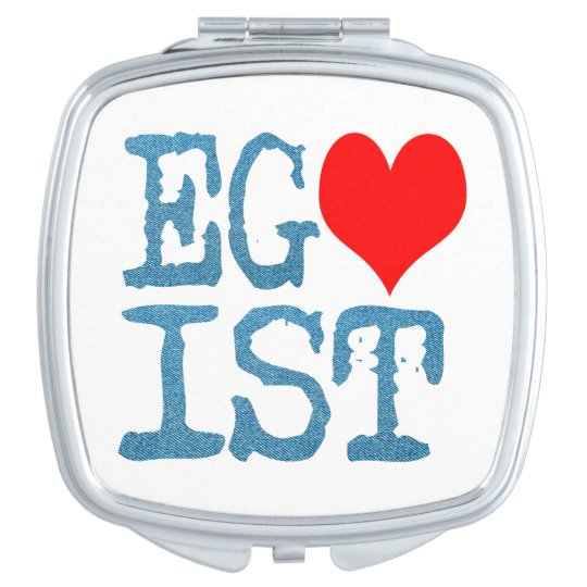 Egoist Red Heart Denim Makeup Mirrors