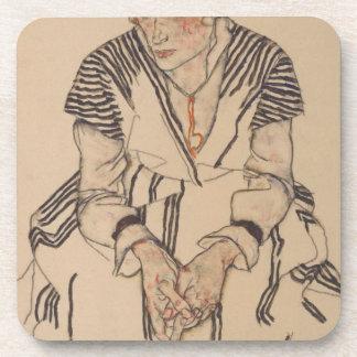 Egon Schiele- Artist's Sister in Law Coaster