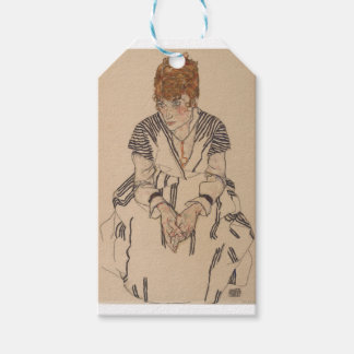 Egon Schiele- Artist's Sister in Law Gift Tags