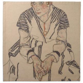 Egon Schiele- Artist's Sister in Law Napkin