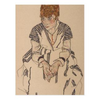 Egon Schiele- Artist's Sister in Law Postcard