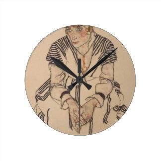 Egon Schiele- Artist's Sister in Law Round Clock