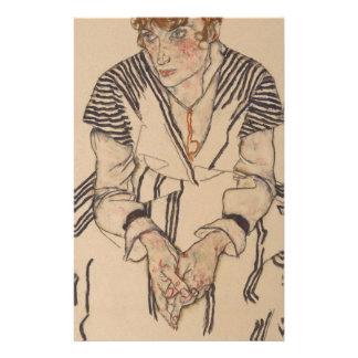 Egon Schiele- Artist's Sister in Law Stationery