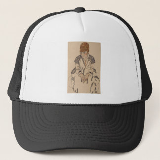 Egon Schiele- Artist's Sister in Law Trucker Hat