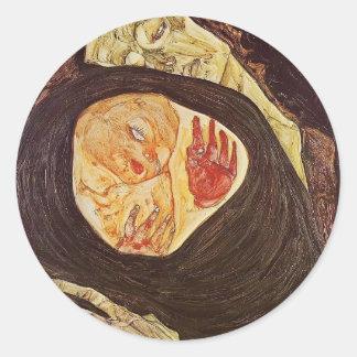 Egon Schiele- Dead Mother Stickers