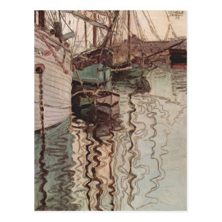 Egon Schiele- Harbor of Trieste Postcard