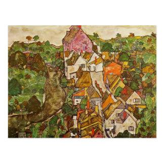 Egon Schiele- Landscape at Krumau Postcard