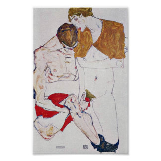 Egon Schiele - Lovers Poster