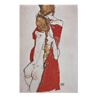 Egon Schiele - Mother and daughter Poster
