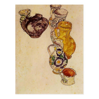 Egon Schiele- Peasants Jug Postcard