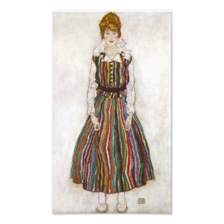 Egon Schiele Portrait of Edith Schiele Print Art Photo