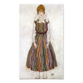 Egon Schiele Portrait of Edith Schiele Print Photo Print