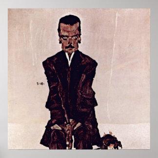 Egon Schiele - Portrait of Eduard Kosmack Poster