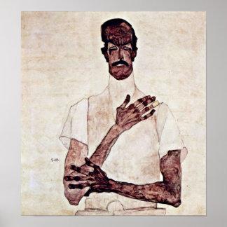 Egon Schiele - Portrait of Erwin von Graff Poster