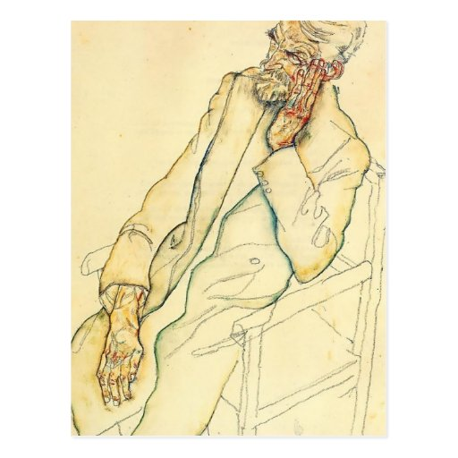 Egon Schiele- Portrait of Johann Harms Post Cards