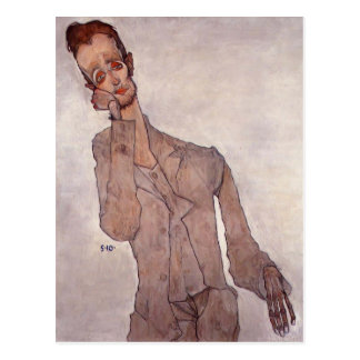 Egon Schiele- Portrait of Karl Zakovsek Postcard