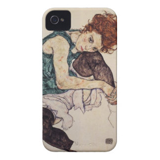 Egon Schiele Seated Woman iPhone case iPhone 4 Cases