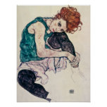 Egon Schiele Seated Woman Poster
