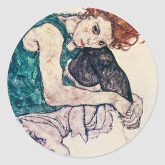 Egon Schiele Seated Woman Stickers