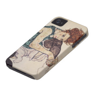Egon Schiele- Seated Woman with Bent Knee iPhone 4 Cover
