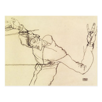 Egon Schiele- Self Portrait as St. Sebastian Postcard