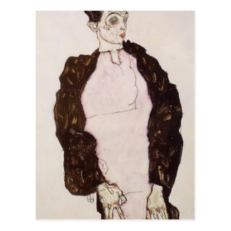 Egon Schiele-Self Portrait in Lavender & Dark Suit Postcard