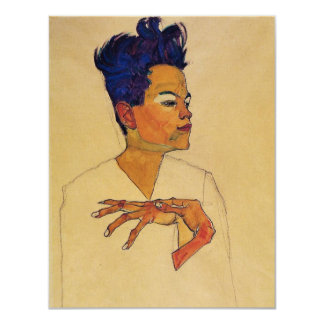 Egon Schiele Self Portrait Invitations
