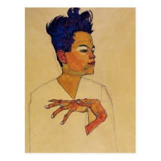 Egon Schiele Self Portrait Postcard