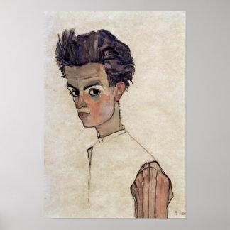 Egon Schiele - self-portrait Poster