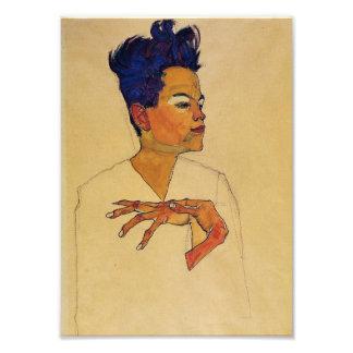 Egon Schiele Self Portrait Print Photographic Print