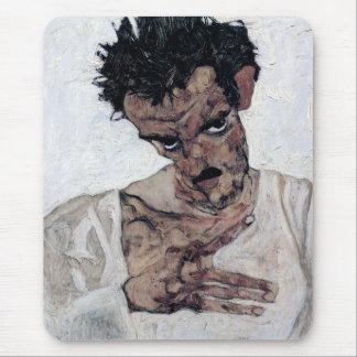 "Egon Schiele, ""Self Portrait with his head down"" Mouse Pad"