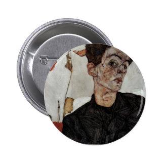 Egon Schiele- Self-Portrait with lantern fruits Buttons