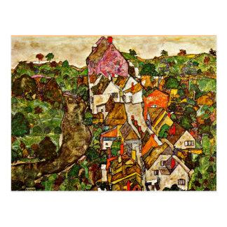 Egon Schiele - Stein on the Danube Postcard
