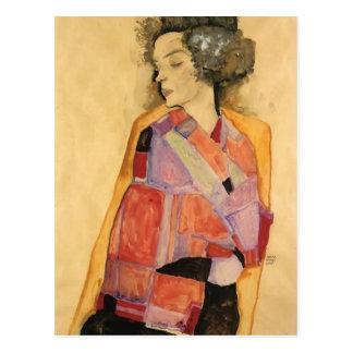Egon Schiele- The Daydreamer (Gerti Schiele) Postcard
