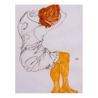 Egon Schiele- The sleeping girl Postcard