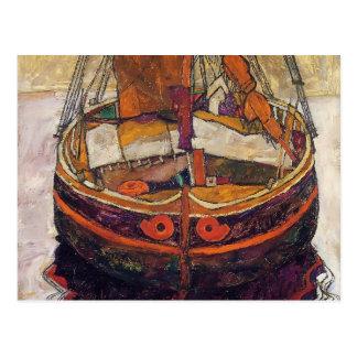 Egon Schiele- Trieste Fishing Boat Postcard