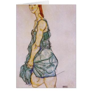 Egon Schiele- Upright Standing Woman Card