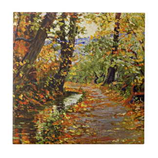 Egon Schiele - Winding Brook Small Square Tile