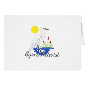 Egret Activist Greeting Card