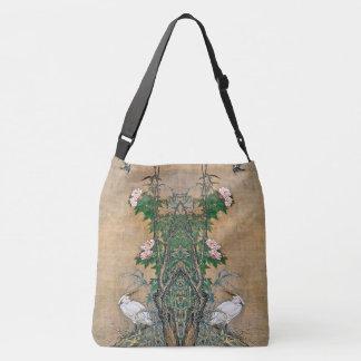 Egret Birds Rose Flowers Wildlife Animals Tote Bag