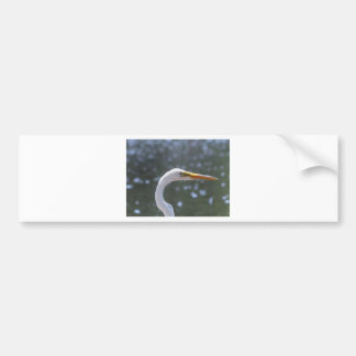 egret bumper sticker