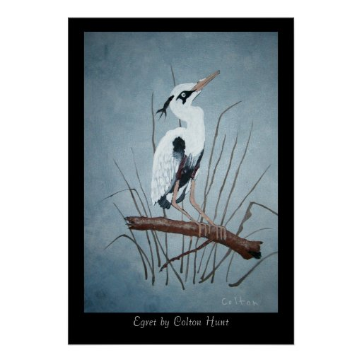 Egret by Colton Hunt - Customized Poster