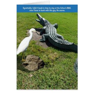 Egret & Gator Card