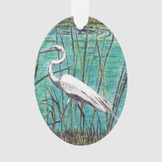 Egret Ornament