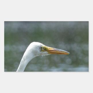 egret rectangular sticker