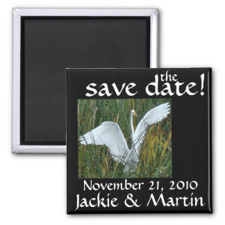 Egret Save the Date Magnet